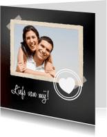 Valentijnskaarten - Valentijnskaart Krijtbord Hart