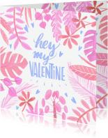 Valentijnskaart planten
