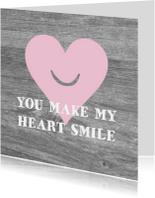 Valentijnskaart smiling heart