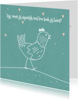 Valentijnskaarten - Valentijnskaart verliefde kip