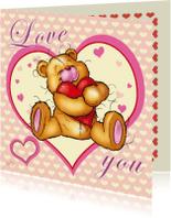Valentijnskaarten - valentijnskart bristy hart-RN