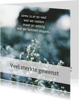 Sterkte kaarten - Veel sterkte gewenst - gedicht