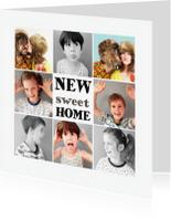 Verhuiskaarten - verhuiskaart collage foto's