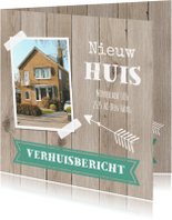 Verhuiskaarten - Verhuiskaart foto houtlook