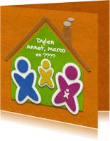Verhuiskaarten - Verhuiskaart gezin met baby