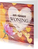 Felicitatiekaarten - Verhuiskaart hart & bloem - KO