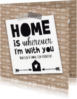Verhuiskaarten - Verhuiskaart Home with you