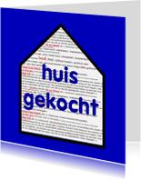 Verhuiskaarten - Verhuiskaart Huis gekocht - AW