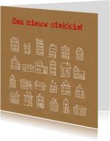 Verhuiskaarten - Verhuiskaart huisjes IB