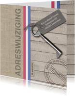 Verhuiskaarten - Verhuiskaart jute en hout look