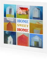 Verhuiskaarten - Verhuiskaart kunst huizen