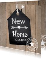 Verhuiskaarten - Verhuiskaart label hout LB