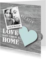 Verhuiskaarten - Verhuiskaart Love Home Foto