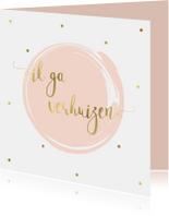 Verhuiskaarten - Verhuiskaart Single, aanpasbare kleur