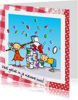 Felicitatiekaarten - Verhuiskaart verven huisje