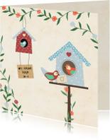 Verhuiskaarten - Verhuiskaart vogelhuisje - SV