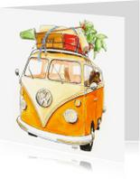 Verhuiskaarten - Verhuiskaart Volkswagen busje