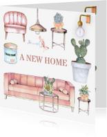 Verhuiskaarten - Verhuizen trendy meubels