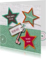 Verhuiskaarten - Verhuizing sterren en sleutel