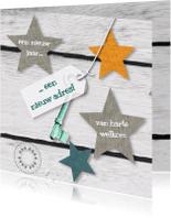 Verhuiskaarten - Verhuizing sterren geel petrol