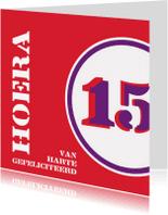 Verjaardagskaarten - Verjaardag 15 felicitatiekaart