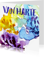 Verjaardagskaarten - Verjaardag-aquarelplanten-AD