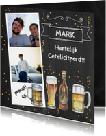 Verjaardagskaarten - Verjaardag bier op krijtbord