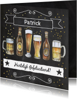 Verjaardag biertjes krijtbord