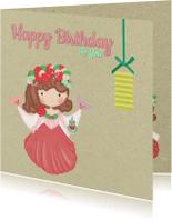 Verjaardagskaarten - Verjaardag Bloemen Prinses