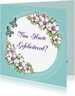 Verjaardagskaarten - Verjaardag bloesem bloemen - IH