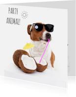Verjaardagskaarten - Verjaardag - Boris de hond - Party Animal
