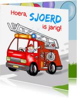 Verjaardagskaarten - Verjaardag-brandweer jongetje