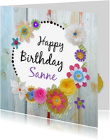Verjaardagskaarten - Verjaardag Fleurige dag