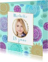 Verjaardagskaarten - Verjaardag gekleurde mandala's