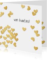 Verjaardagskaarten - Verjaardag gouden hartjes - SV