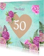 Verjaardagskaarten - Verjaardag hart craft