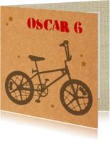 Verjaardagskaarten - Verjaardag jongen bmx fiets
