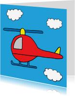 Verjaardagskaarten - verjaardag jongen helikopter