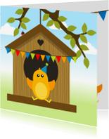 Verjaardagskaarten - Verjaardag jongen vogel - DD