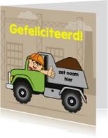 Kinderkaarten - verjaardag kinderfeest vrachtwagen 71