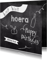 Verjaardagskaarten - Verjaardag krijtbord ballon - SV