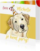 Verjaardagskaarten - Verjaardag Lucky Labrador