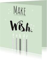 Verjaardagskaarten - Verjaardag makeawish kaarsje - B