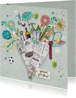 Verjaardagskaarten - Verjaardag man Bouquet