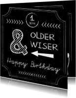 Verjaardagskaarten - Verjaardag man chalkboard - SV