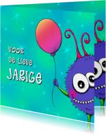 Verjaardagskaarten - Verjaardag Monshi Ballon - IH