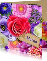 Verjaardagskaarten - Verjaardag mooie bloemen - HE