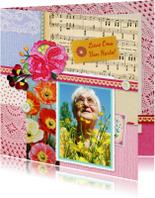 Verjaardagskaarten - Verjaardag Oma bonte collage