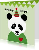 Kinderkaarten - Verjaardag-Pandabeer is Jarig-HK