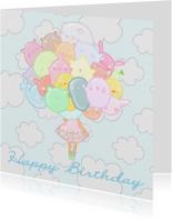 Verjaardagskaarten - Verjaardag Pastel Beestjes - TbJ